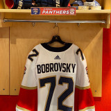 Florida Panthers #72 Sergei Bobrovsky Game-Used 2021 Set 1 Away Jersey