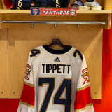 Florida Panthers #74 Owen Tippett Game-Used 2021 Set 1 Away Jersey