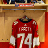 Florida Panthers #74 Owen Tippett Game-Used 2021 Set 1 Home Jersey