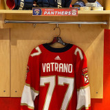 Florida Panthers #77 Frank Vatrano Game-Used 2021 Set 1 Home Jersey