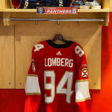 Florida Panthers #94 Ryan Lomberg Game-Used 2021 Set 1 Home Jersey