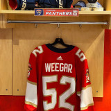 Florida Panthers #52 Mackenzie Weegar Game-Used 2021 Set 1 Home Jersey