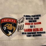 Florida Panthers #5 Aaron Ekblad Game-Used 2021 Set 1 Away Jersey