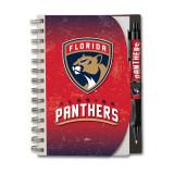 Florida Panthers 4x6 Hardcover Notebook & Pen