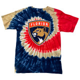 Tie-Dye Panthers primary logo t-shirt