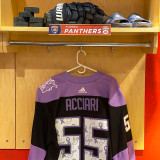 Florida Panthers #55 Noel Acciari Game-Used 2021 HFC Game Warmup Jersey