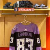 Florida Panthers #83 Juho Lammikko Game-Used 2021 HFC Game Warmup Jersey