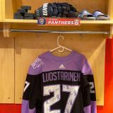 Florida Panthers #27 Eetu Luostarinen Game-Used 2021 HFC Game Warmup Jersey