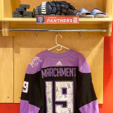 Florida Panthers #19 Mason Marchment Game-Used 2021 HFC Game Warmup Jersey