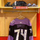 Florida Panthers #74 Owen Tippett Game-Used 2021 HFC Game Warmup Jersey