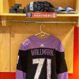 Florida Panthers #71 Lucas Wallmark Game-Used 2021 HFC Game Warmup Jersey