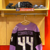 Florida Panthers #44 Kevin Connauton Game-Used 2021 HFC Game Warmup Jersey