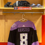 Florida Panthers #8 Matt Kiersted Game-Used 2021 HFC Game Warmup Jersey