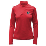 Women's Florida Panthers 1/4 Zip Wave Embroidered Pullover
