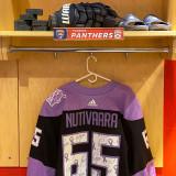 Florida Panthers #65 Markus Nutivaara Game-Used 2021 HFC Game Warmup Jersey