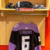 Florida Panthers #6 Anton Stralman Game-Used 2021 HFC Game Warmup Jersey