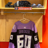 Florida Panthers #60 Chris Driedger Game-Used 2021 HFC Game Warmup Jersey