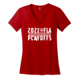 Florida Panthers Women's 2021 Playoff Cats Ribbon District V-Neck Shirt