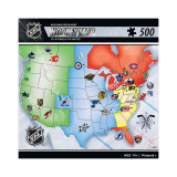 NHL League Map Puzzle (500 Pieces)