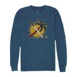 Florida Panthers Palm Tree Blue Jean Long Sleeve Shirt