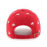 Florida Panthers Confetti Palm Tree Clean Up Red Cap
