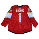 Florida Panthers Anton Stralman Luongo Retirement Night Warmup Jersey