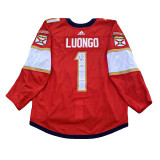 Florida Panthers Lucas Wallmark Luongo Retirement Night Warmup Jersey