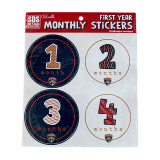 first year monthly stickers
