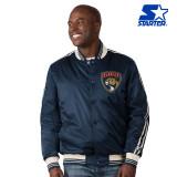 """Man wearing Florida Panthers """"Originator"""" Starter Jacket"""