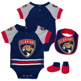 Florida Panthers Infant Blocker Bodysuit Bib & Bootie Set