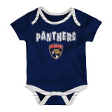 Florida Panthers Infant 3-Pack Creeper Set