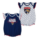 Florida Panthers Infant Hockey Hearts Bodysuit 2-Pack