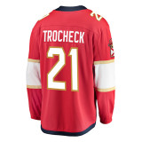 Florida Panthers #21 Vincent Trocheck Breakaway Replica Home Jersey
