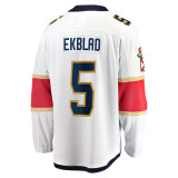 Florida Panthers #5 Aaron Ekblad Breakaway Away Replica Jersey