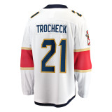 Florida Panthers #21 Vincent Trocheck Breakaway Away Replica Jersey
