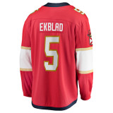 Florida Panthers #5 Aaron Ekblad Breakaway Home Replica Jersey