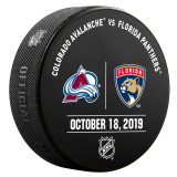 Florida Panthers vs Colorado Avalanche 10/18/19 Warmup Puck