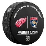 Florida Panthers vs Detroit Red Wings 11/2/19 Warmup Puck