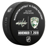 Florida Panthers vs Washington Capitals 11/7/20 Warmup Puck (Military Appreciation Night)