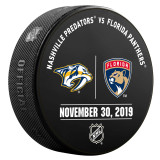 Florida Panthers vs Nashville Predators 11/30/19 Warmup Puck