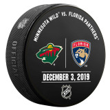 Florida Panthers vs Minnesota Wild 12/3/19 Warmup Puck