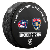 Florida Panthers vs Columbus Blue Jackets 12/7/19 Warmup Puck