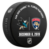 Florida Panthers vs San Jose Sharks 12/8/19 Warmup Puck