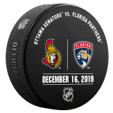 Florida Panthers vs Ottawa Senators 12/16/19 Warmup Puck