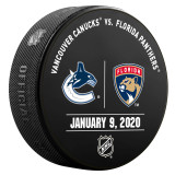 Florida Panthers vs Vancouver Canucks 1/9/20 Warmup Puck