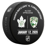 Florida Panthers vs Toronto Maple Leafs 1/12/20 Warmup Puck (Military Appreciation Night)