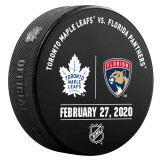 Florida Panthers vs Toronto Maple Leafs 2/27/20 Warmup Puck