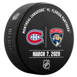 Florida Panthers vs Montreal Canadiens 3/7/20 Warmup Puck