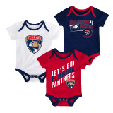 Florida Panthers Infant Power Play 3-Pack Bodysuit