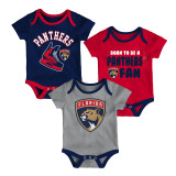 Florida Panthers Infant Even Strength 3-Pack Bodysuit